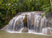 Thailand Erawan Nationalpark Wasserfall