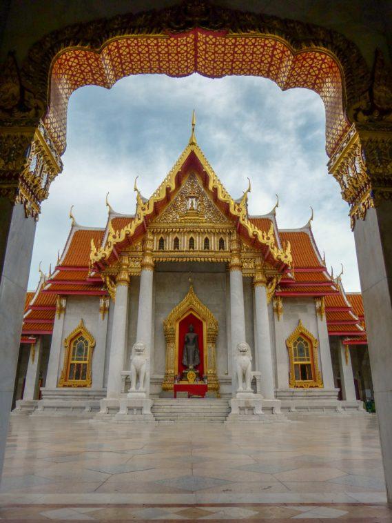 Thailand Bangkok Tempel Marmorpalast