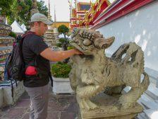 Thailand Bangkok Tempel Wat Pho Löwe