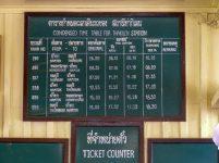 Thailand River Kwai Burmabahn Dschungel Bahnhof Thakilen Fahrplan
