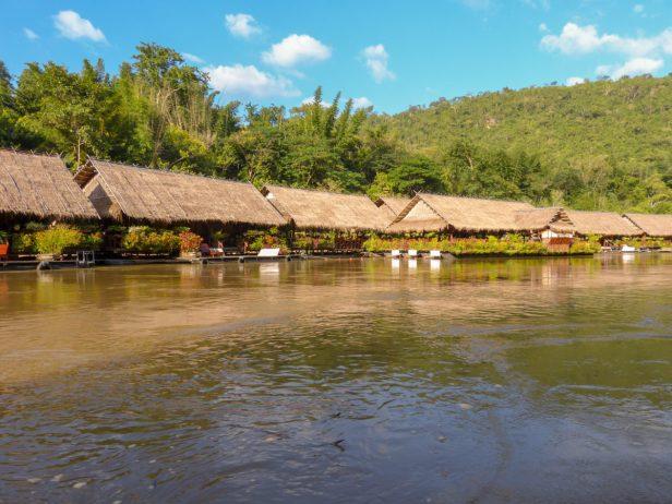 Thailand River Kwai Jungle Rafts Dschungel schwimmende Flöße