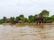 Thailand Ayutthaya Chao Phraya Bootsfahrt Reisbarke