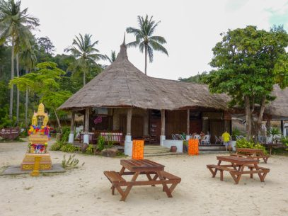 Thailand Koh Ngai Koh Hai Insel Andamanensee Inselparadies Strand Meer Mayalay Beach Resort Restaurant Salalay Rezeption