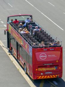 Südafrika Kapstadt Cape Town City Sightseeing Hop on Hop Off Bus Doppeldeckerbus Bustour