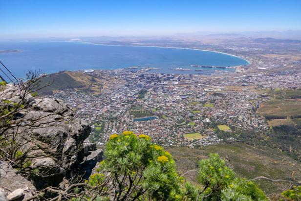 Südafrika Kapstadt Cape Town Tafelberg Table Mountain Ausblick Aussicht City Bowl
