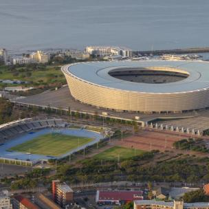 Südafrika Kapstadt Cape Town Sunset Tour Signal Hill Abendsonne WM Fußball Stadion