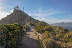 Südafrika South Africa Kap Halbinsel False Bay Cape Point Nationalpark Kapspitze Neuer Leuchtturm Ausblick Alter Leuchtturm Wanderweg