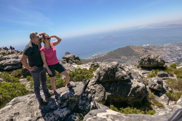 Südafrika Kapstadt Cape Town Tafelberg Table Mountain Aussicht Ausblick