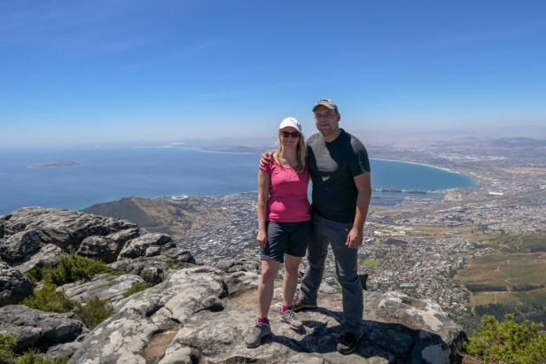 Südafrika Kapstadt Cape Town Tafelberg Table Mountain Aussicht Ausblick City Bowl Meerblick