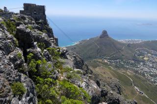 Südafrika Kapstadt Cape Town Tafelberg Table Mountain Aussicht Ausblick Lion's Head Seilbahn