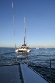 Südafrika Kapstadt Cape Town Victoria 6 Alfred Waterfront Sunset Cruise Sonnenuntergang Bootsfahrt Katamaran