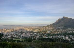 Südafrika Kapstadt Cape Town Sunset Tour Signal Hill Abendsonne City Bowl Aussicht