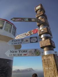 Südafrika South Africa Kap Halbinsel False Bay Cape Point Nationalpark Alter Leuchtturm Wegweiser
