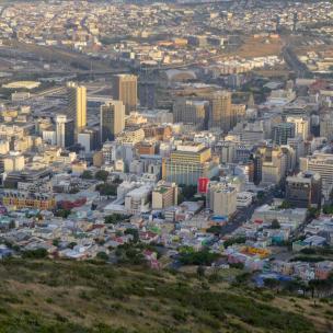 Südafrika Kapstadt Cape Town Sunset Tour Signal Hill Abendsonne Bo-Kaap Viertel City