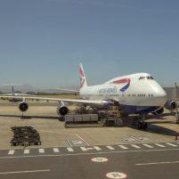 Südafrika Flugzeug British Airway Boeing 747 Flug