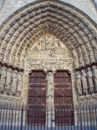Frankreich Paris Notre Dame de Paris Kathedrale Gotik Fassade Portal