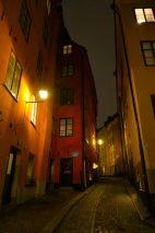 Schweden Stockholm Altstadt Gamla Stan Gasse alte Häuser Gasse Nacht