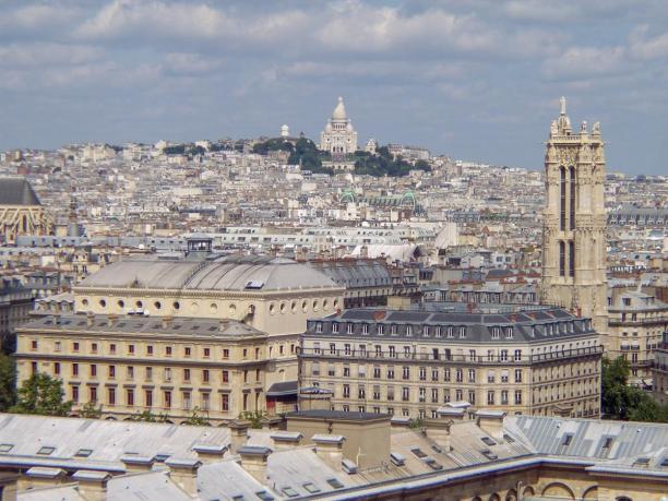 Frankreich Paris Notre Dame de Paris Kathedrale Glockenturm Turm Turmbesteigung Galerie Ausblick Montmartre Sacre Coeur