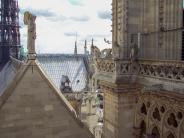 Frankreich Paris Notre Dame de Paris Kathedrale Glockenturm Turm Turmbesteigung Galerie Dach Giebel