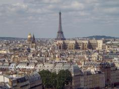 Frankreich Paris Notre Dame de Paris Kathedrale Glockenturm Turm Turmbesteigung Galerie Ausblick Eiffelturm Invalidendom Dom des Invalides