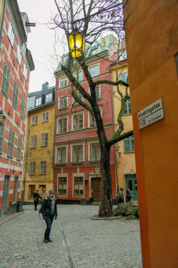 Schweden Stockholm Altstadt Gamla Stan Gasse alte Häuser Gassen