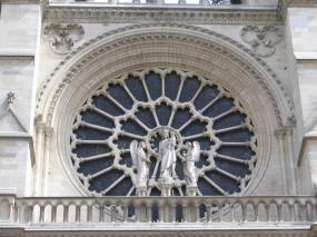 Frankreich Paris Notre Dame de Paris Kathedrale Gotik Fassade Westrosette Rosette