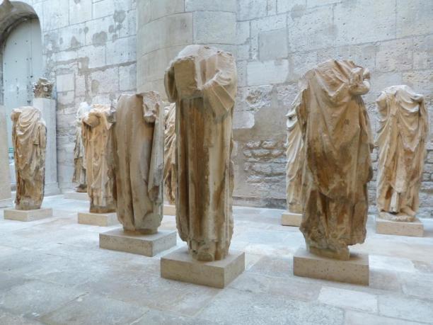 Frankreich Paris Musée de Cluny mittelalterliches Museum Skulpturen von Notre Dame de Paris Kathedrale Königsfiguren Mittelalter