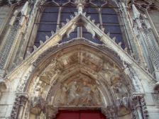 Frankreich Paris Notre Dame de Paris Kathedrale Gotik Kirchenschiff Nordfassade Portal