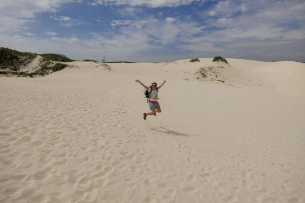 Südafrika South Africa Kap De Hoop Nature Reserve Naturreservat Sanddüne Dünen Sand Sprungfoto
