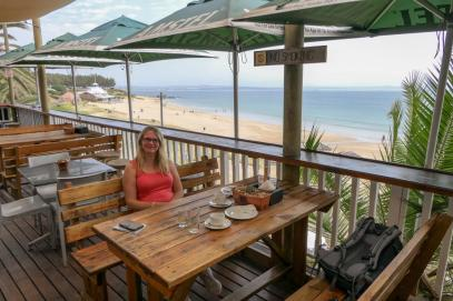Südafrika South Africa Kap Mossel Bay Santos Beach Santos Express Train Lodge Zug Hostel Terrasse Meer