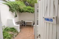 Südafrika South Africa Hermanus Kap Anchor's Rest B&B Guesthouse Unterkunft Terrasse Pebbles