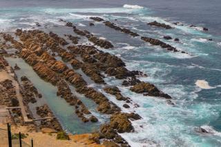 Südafrika South Africa Kap Mossel Bay St Blaize Lighthouse Leuchtturm Gezeitenbecken Meer
