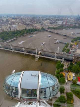 Großbritannien England UK London London Eye Riesenrad Themse Brücken Ausblick