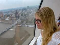 Großbritannien England UK London London Eye Riesenrad Themse Ausblick Gondel