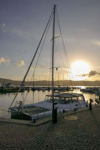 Afrika Südafrika South Africa Garden Route Knysna Waterfront Yachthafen Boot Abendsonne