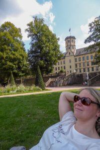 Deutschland Hessen Fulda Schlossgarten Relaxen
