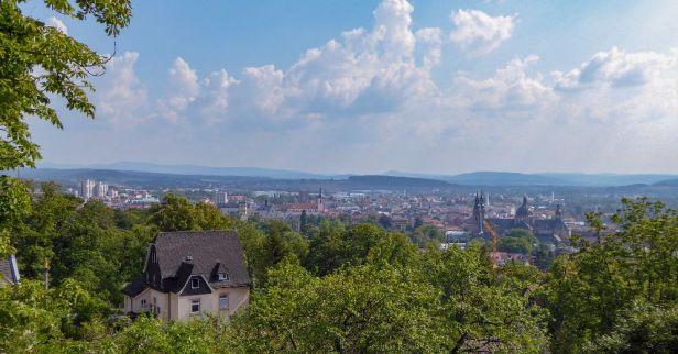 Deutschland Hessen Fulda Kloster Ausblick Stadt
