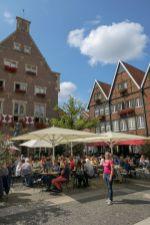 Deutschland Münster Westfalen Fachwerk Spiekerhof