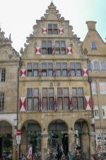 Deutschland Münster Westfalen Giebelhaus Altstadt