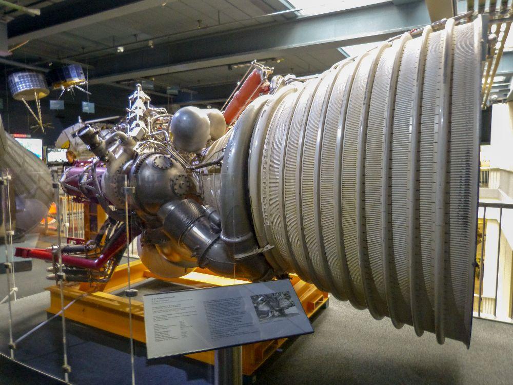 Deutsches Museum München Deutschland Naturwissenschaft Technik Raumfahrt Rakete Antriebsdüse