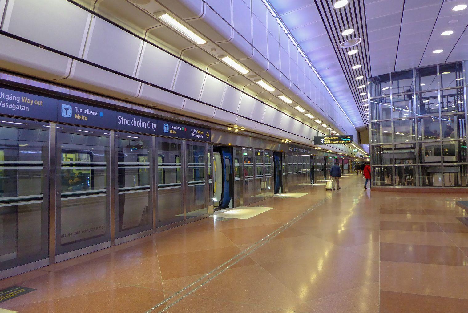 Stockholm Schweden Städtetrip Anreise Metro Tunnelbana City