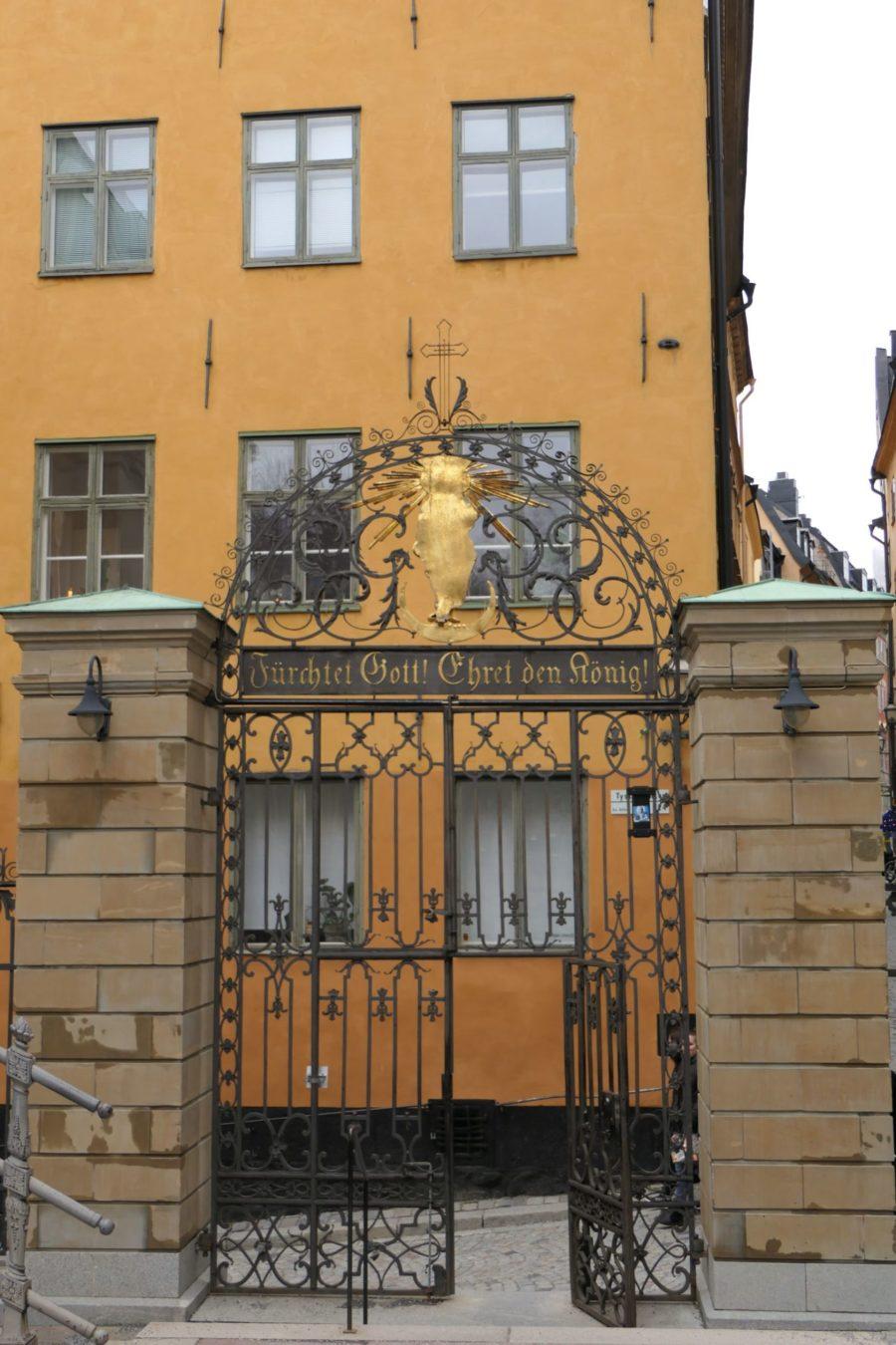 Stockholm Schweden Gamla Stan Stadsholmen Altstadt Tor
