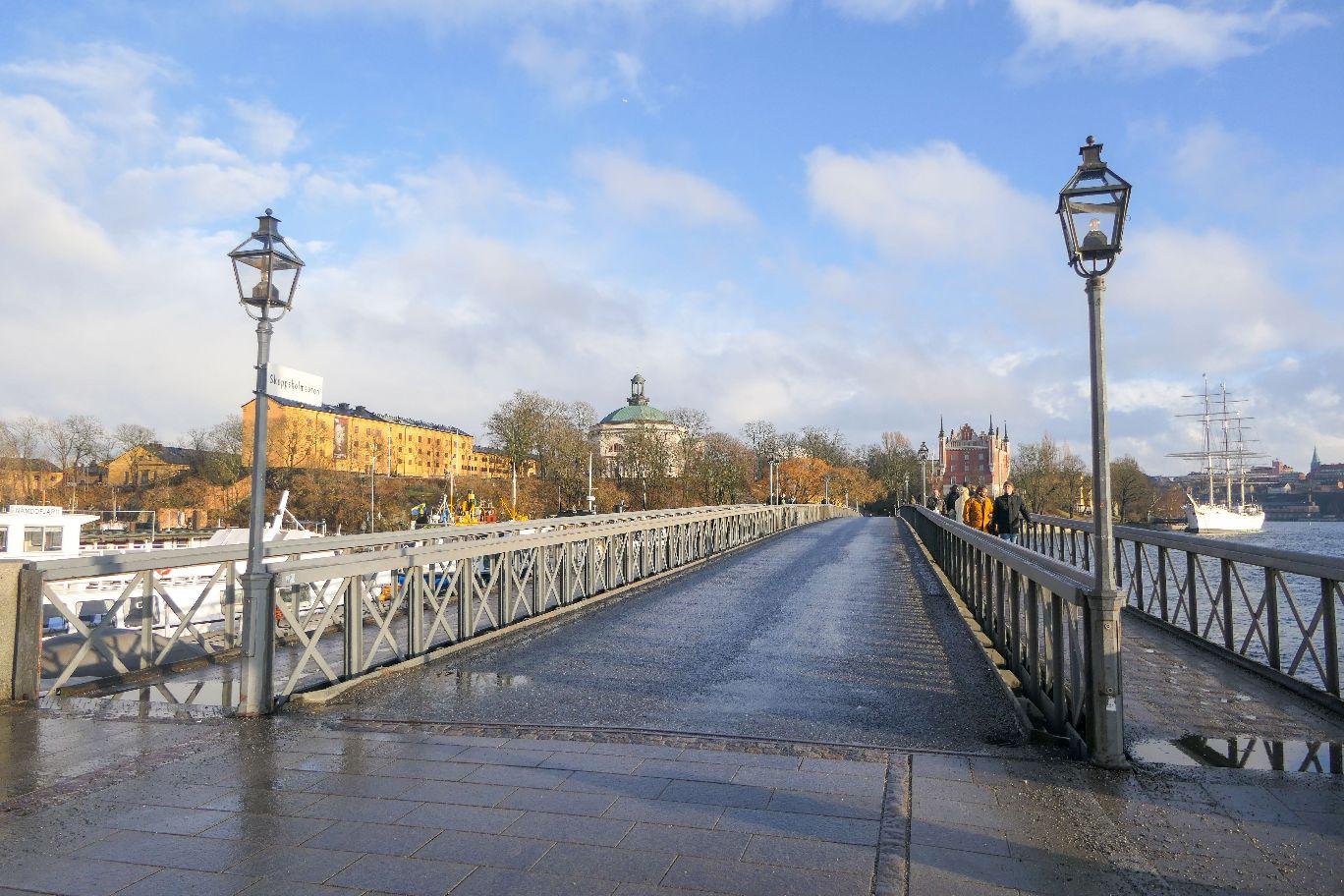 Stockholm Schweden Skeppsholmen Skeppsholmsbron