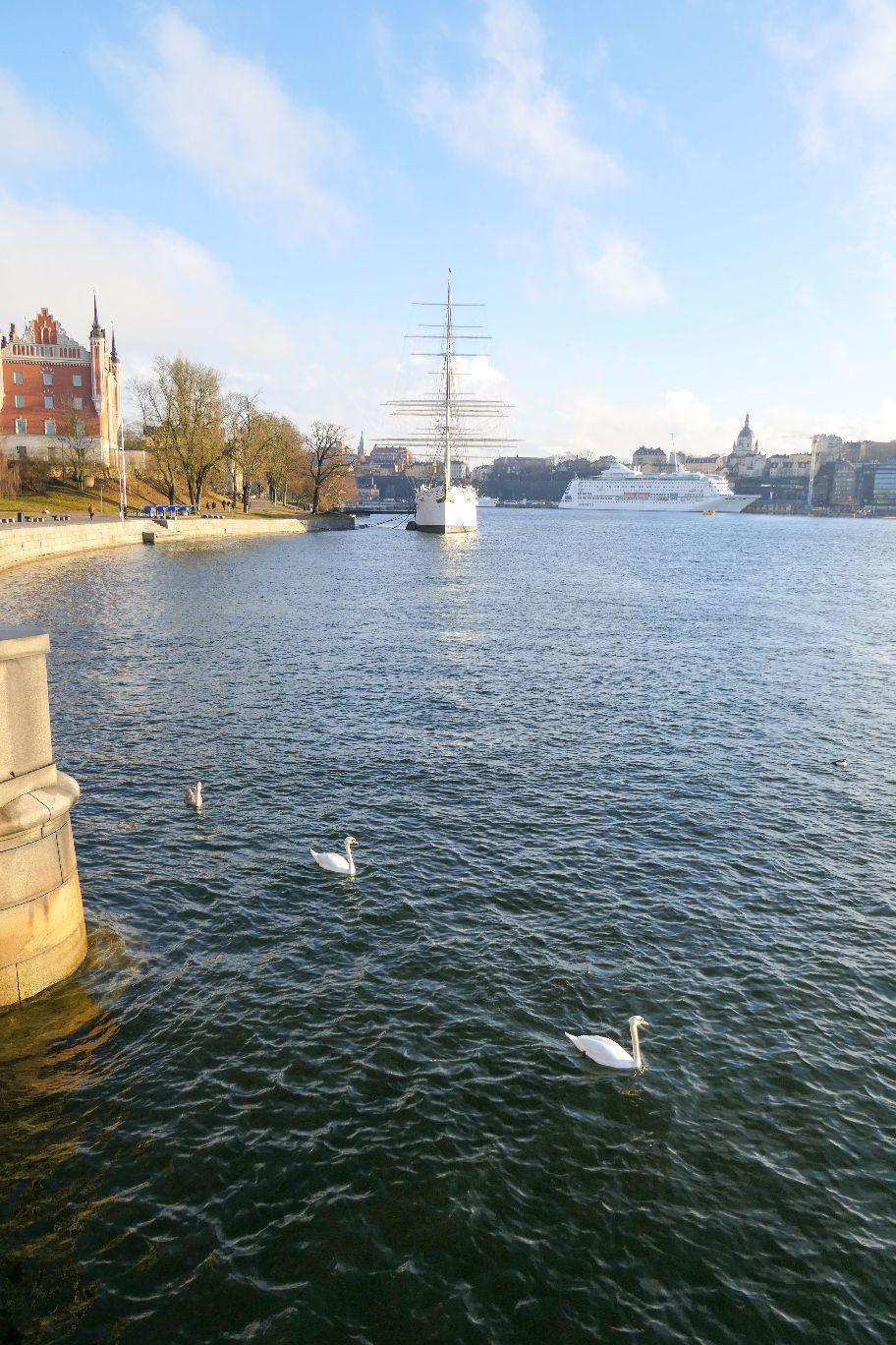 Stockholm Schweden Skeppsholmen Skeppsholmsbron Ausblick