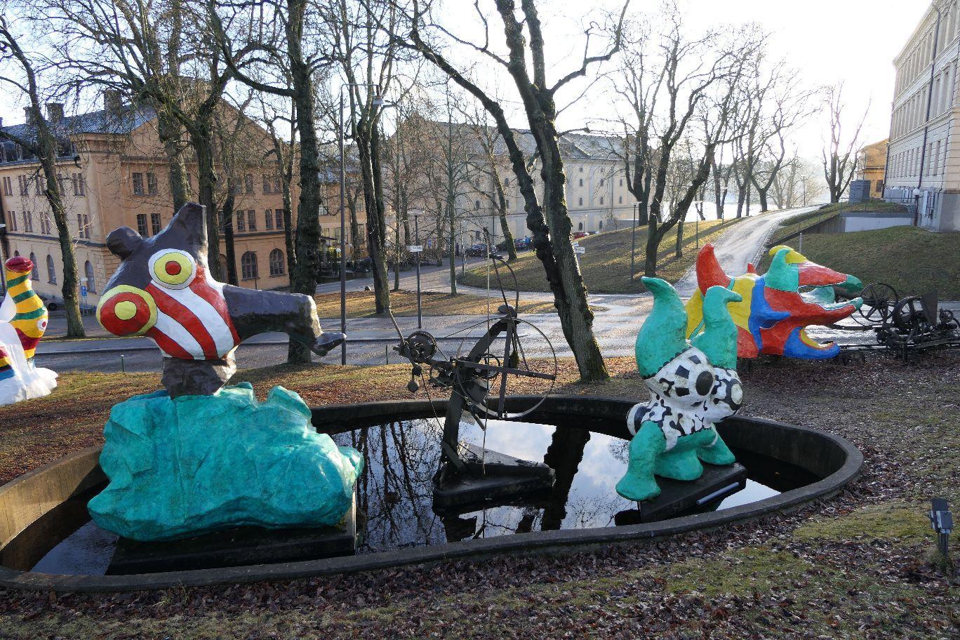 Stockholm Schweden Skeppsholmen Modernes Museum Skulpturenpark Niki de Saint Phalle und Jean Tinguely