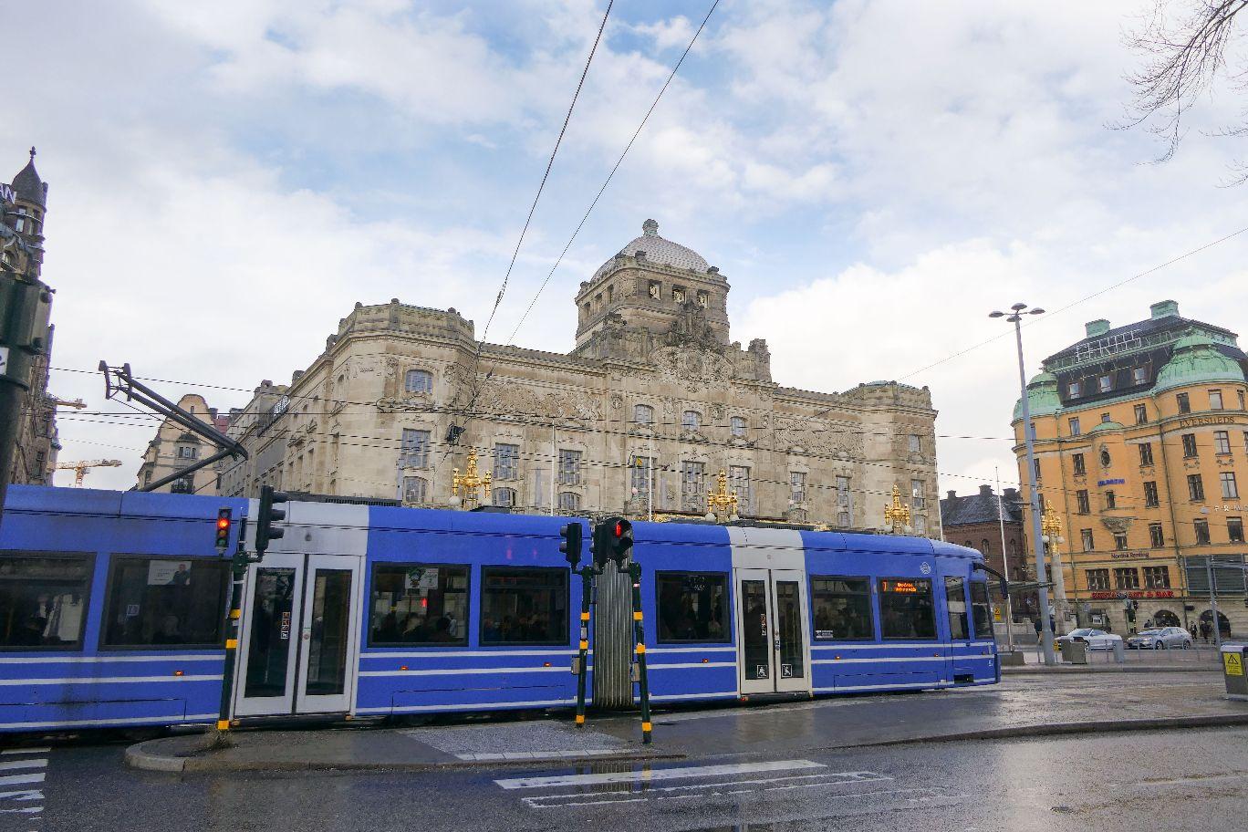 Stockholm Schweden Theater Straßenbahn