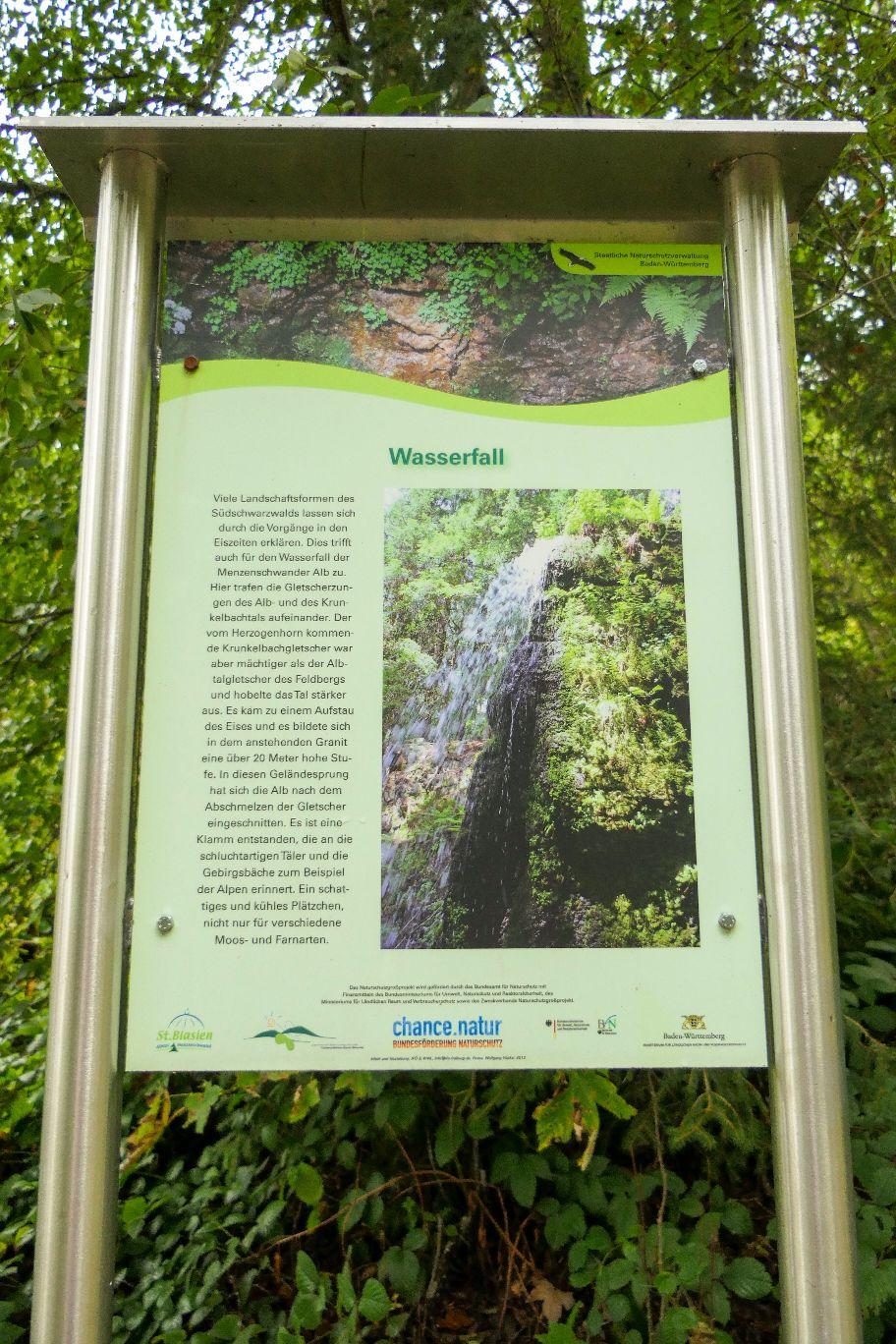 Deutschland Schwarzwald Hochschwarzwald Menzenschwand Menzenschwander Wasserfall