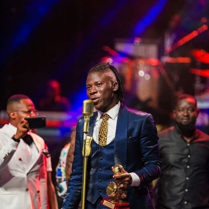 Stonebwoy wins Best dancehall artist for the third time at the AFRIMA, see full list of winners.