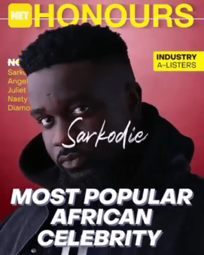 Sarkodie and Juliet Ibrahim nominated for Most Popular African Celebrity alongside Angelique Kidjo.