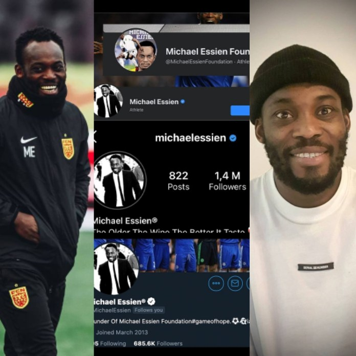 Facts-Check: Essien's Twitter followers never dropped from 1.7 million to less than 700K